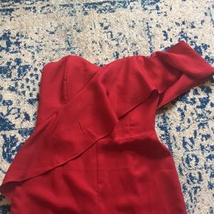 Gianni Bini Red One Shoulder Jumpsuit XS